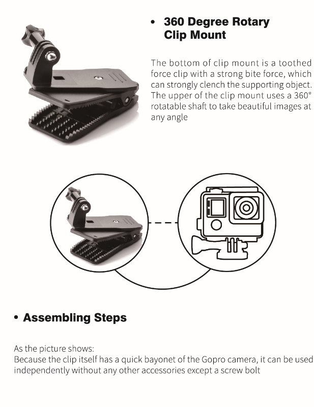 Instructions For Gopro Accessories